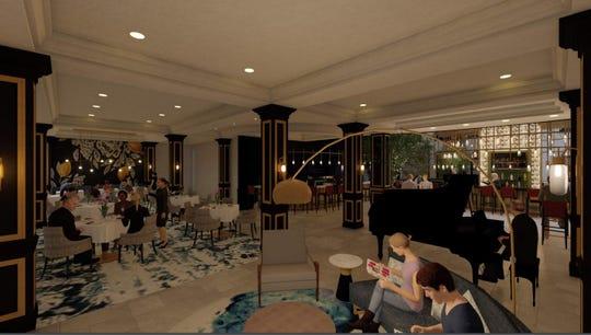 Subito dining room rendering.