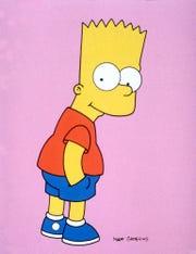 "Bart Simpson from Fox's hit cartoon ""The Simpsons."""