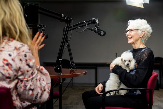 "Sherry Coolidge talks with Victoria Morgan, The Sue & Bill Friedlander artistic director at The Cincinnati Ballet, for ""That's so Cincinnati"" podcast in The Enquirer studio on Thursday, Dec. 12, 2019."