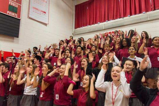 St. Thomas Aquinas High School students celebrated the annual Ahr Star Pre-Christmas liturgy