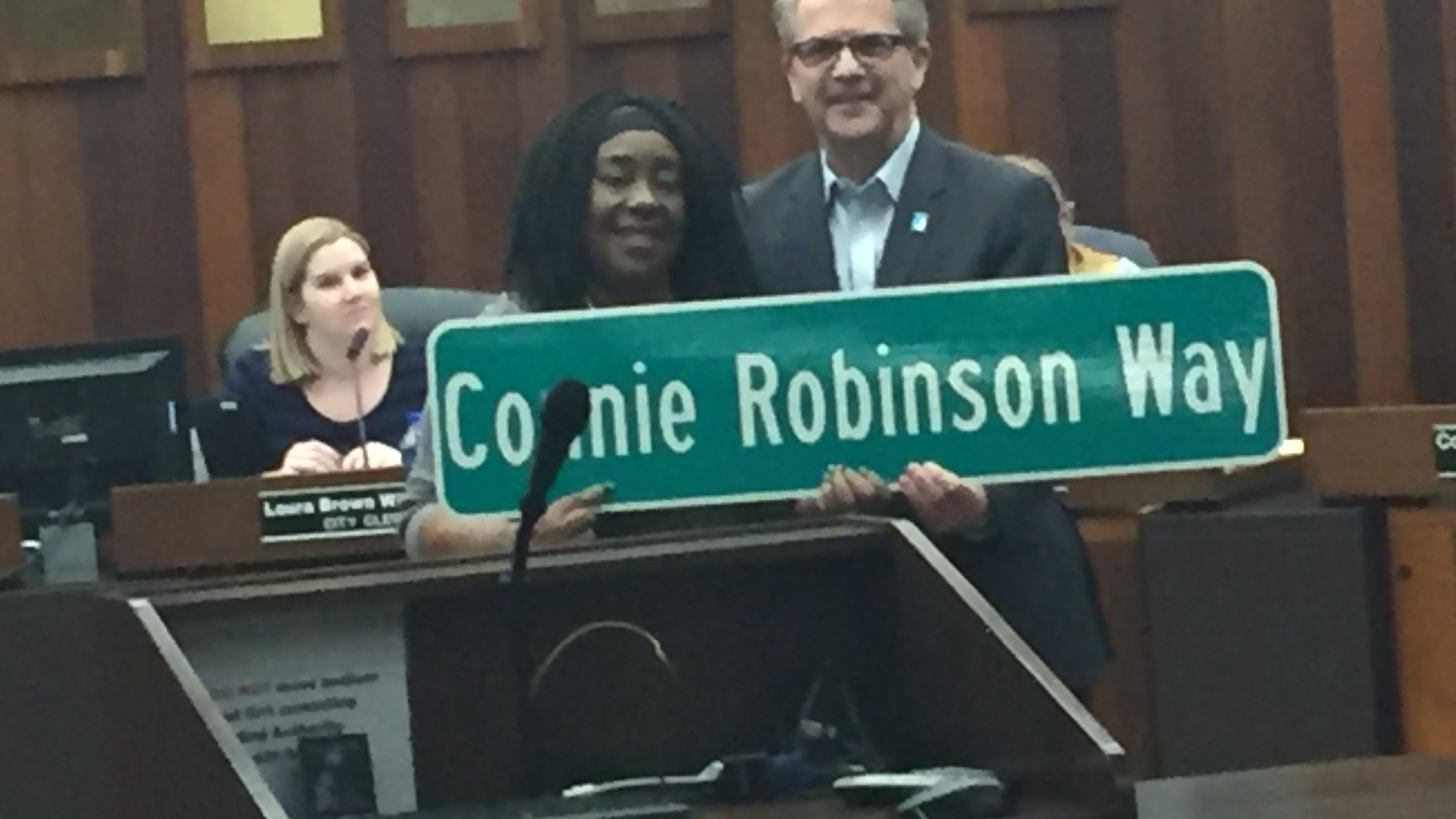 Ex-Evansville City Council member Connie Robinson honored by League of Women Voters