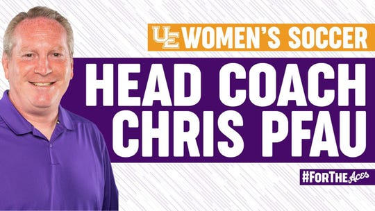 Chris Pfau has been named the UE women's soccer head coach for the second time.