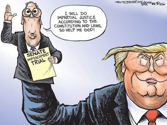 Sen. McConnell as Trump's puppet.
