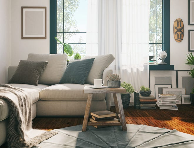 "Adding wood, soft textiles and other natural materials with interesting textures is another way to make your home feel more ""alive"" and warm."