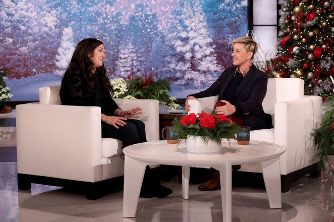 "Ellen DeGeneres talks to Mary Katherine Backstrom on today's episode of  ""The Ellen DeGeneres Show,"" filmed at the Warner Bros. lot in Burbank, Calif. (Photo by .)"