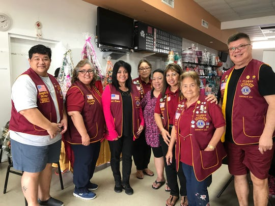 Guahan Ayudante Lions Club held their second annual vendors fundraiser event on Nov. 23 at Tamuning Community Center to purchase medical equipment/supplies for school-age children with physical or mental disabilities. From left: Joe Meno, Dot Cruz, Natti Pisano, Arlene Sablan President, Therese Flores, Stephanie Aguon, Rosie S Fejeran and Joe Sanz. We appreciate the community with their support to accomplish our mission during our fundraiser.