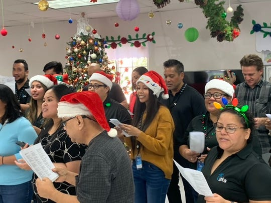 A total of 40 GTA employees visited the manamko at Macheche Senior Citizen Center on Dec. 11.  As part of their holiday message to give back to the local community, GTA participated in the Magic of Giving through an annual caroling event to spread joy and laughter.  Employees donated toiletries, cleaning products, and paper products to help support the operations of the center. In addition, each of the senior citizens received a special Christmas gift from our employees.
