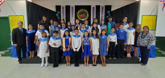 Maria A. Ulloa National Elementary Honor Society Carabao Chapter were inducted on Dec. 5.