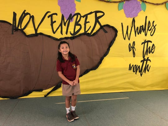Second-grader Cataleya Toves was awarded the November Character of the Month from Michelle Luzano's class at Tamuning Elementary School on Dec. 2. Each month, an award is given to the student from each classroom who has shown the most effort in demonstrating the character trait of the month (November's character trait was responsibility).