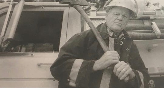 William E. Ross, a founding member of the Spottsville Volunteer Fire Department.