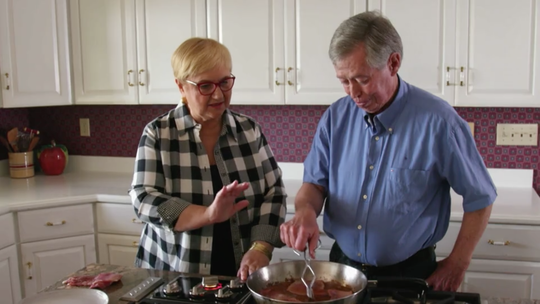 """Lidia Bastianich and Benton's Smoky Mountain Country Hams owner Allan Benton star together in the new PBS TV special """"Lidia Celebrates America: The Return of the Artisans."""""""