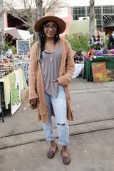 Emoni Harbor, 24, is a jewelry maker who likes hippie casual.