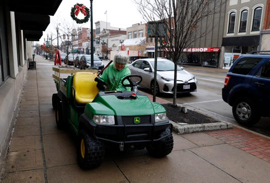 Margie Kunkler drives through downtown Lancaster Tuesday morning, Dec. 17, 2019. Kunkler is the downtown beautification specialist for Destination Downtown Lancaster.