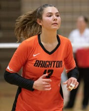 Brighton's Celia Cullen is the repeat winner of Livingston County's volleyball Player of the Year award.
