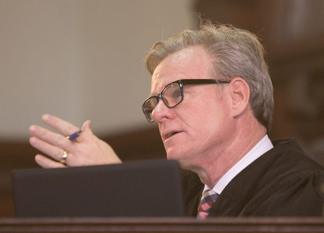 Shiawassee County Circuit Court Judge Matthew Stewart decides on one of a number of motions Tuesday, Dec. 17, 2019, leading to a re-trial of Jerome Kowalski.