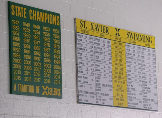 The St. X swim team has been prolific in competition in Louisville, Ky. on Dec. 16, 2019.