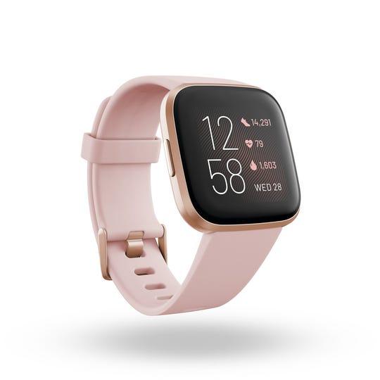 Fitbit Versa 2, in Petal and Copper Rose. $129.95 on Fitbit.com.