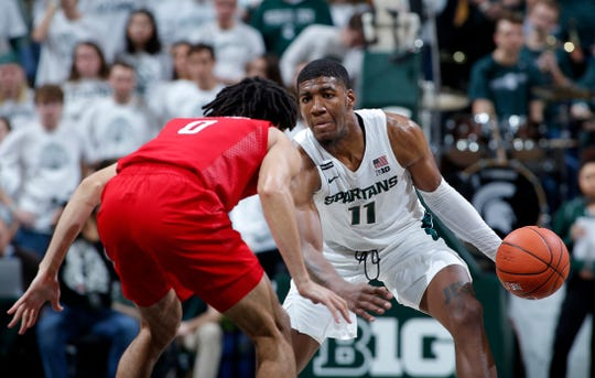 Aaron Henry has been up and down this season for MSU, struggling with his confidence offensively.