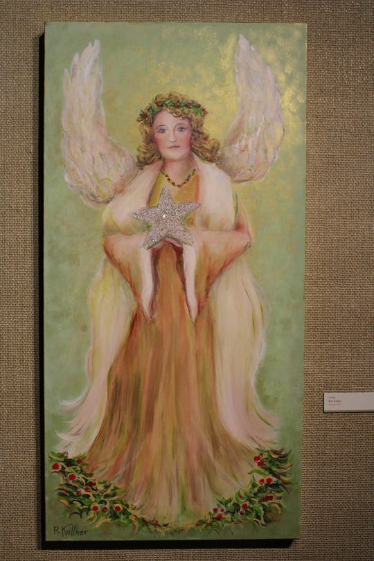 "Bob Kellner's painting ""Noelle,"" at Christmas in the Mansion at Rahr-West Art Museum in Manitowoc."