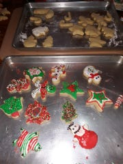 Lovina enjoyed decorating Christmas cutout cookies with her grandchildren. Find the recipe in this week's column.