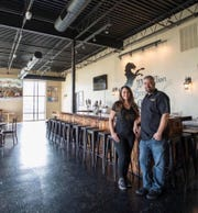 Kim and Erik Dorfner, owners of Westallion Brewing, are giving away beer on Sunday.