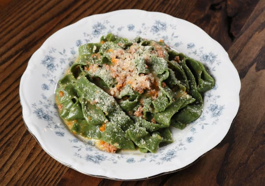 Ca'Lucchenzo Pastificio & Enoteca, an Italian restaurant at 6030 W. North Ave., makes its own fresh pasta, such as tagliatelle verde al ragu bianco (spinach ribbon pasta with white ragu made of veal), topped with grated parmigiano-reggiano.