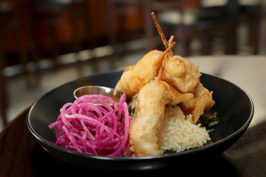 Ginger chicken tempura is one of the shareable dishes at Precinct Tap & Table in Germantown.