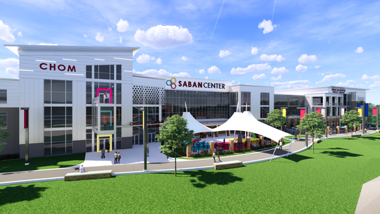 Artist's rendering of the Saban Center.