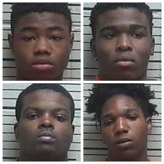Clockwise from top left: Burns, Johnson, Wells, Parks.