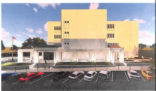 Artist rendering of Montgomery County Courthouse renovations