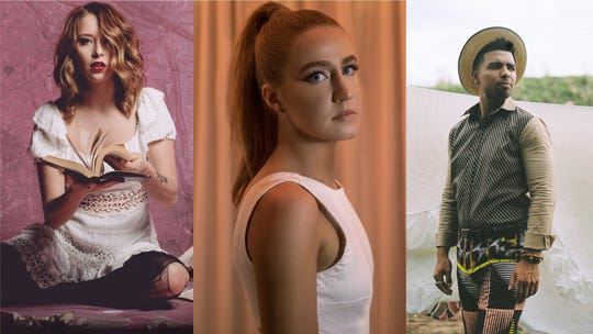 Kalie Shorr (left), Ingrid Andress and Devon Gilfillian (right) lead the Tennessean's 2020 artists to watch