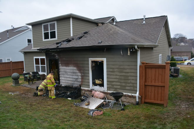 Franklin fire officials are investigating after flames broke out at a Ladd Park home.