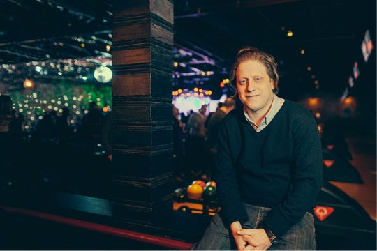 Peter Shapiro, co-founder of Brooklyn Bowl, poses in the original New York City location.