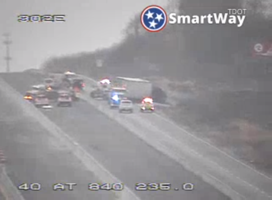 A crash affected westbound traffic on Interstate 40 Tuesday in Wilson County. It has now been cleared.