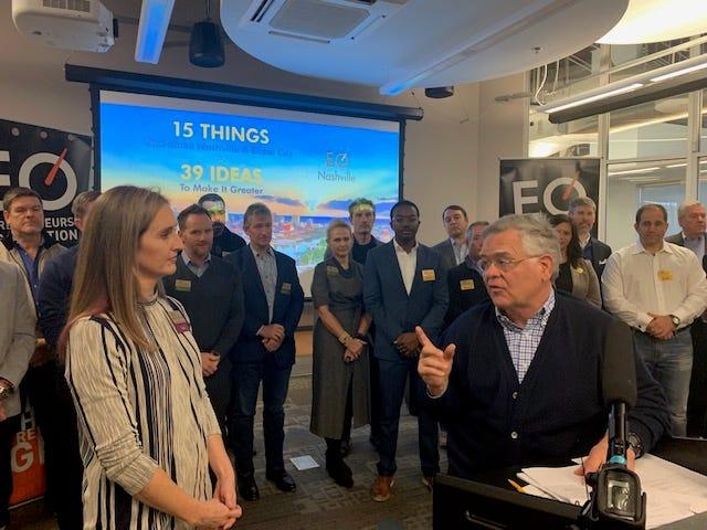 Mayor John Cooper meets with EO Nashville members