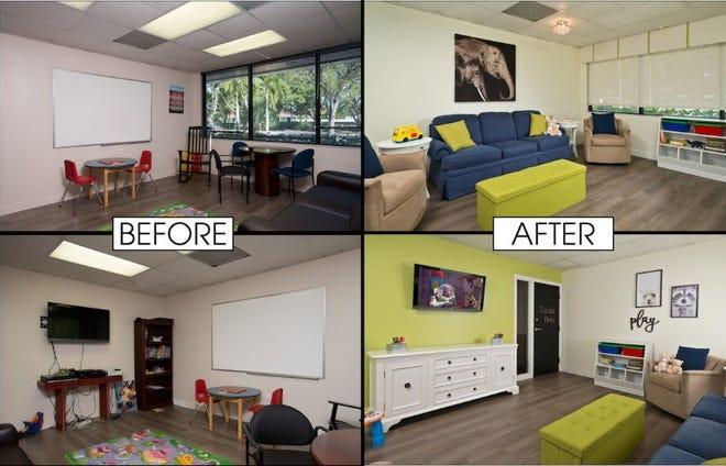 Romanza Interior Design donated services to refresh the interior spaces at the Camelot Community Care facility.