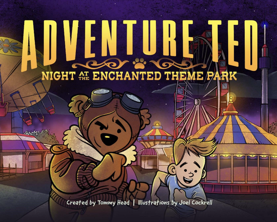 Cover of 'Adventure Ted: Night at the Enchanted Theme Park.'
