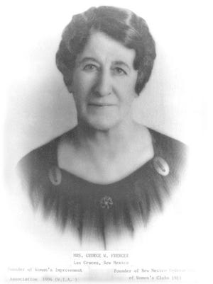 Laura Frenger, a suffragette from Las Cruces, will be honored with a plaque in Pioneer Women's Park if a grant is awarded.