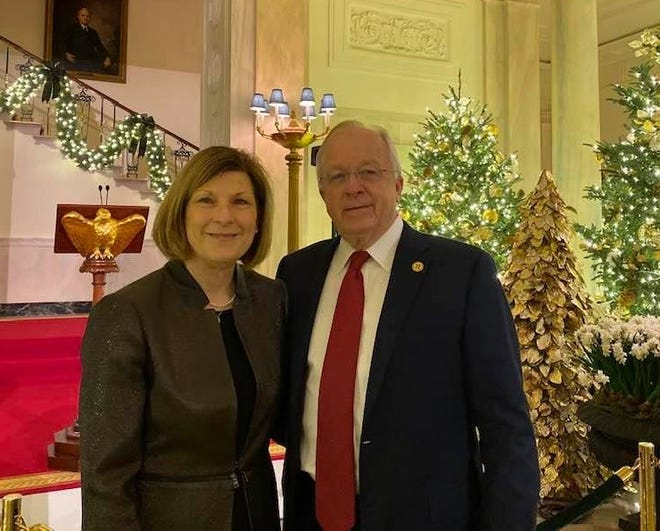 State Rep. Jim Townsend and his wife Paula pose for a picture Dec. 13 at a White House Christmas party in Washington, D.C.
