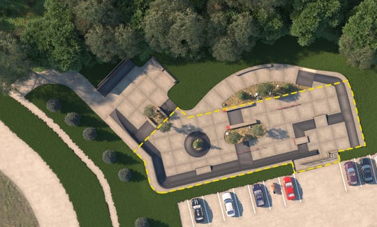 A rendering of the Milford Skatepark, which is planned for construction next spring by Spohn Ranch, a California-based skatepark firm. Cour