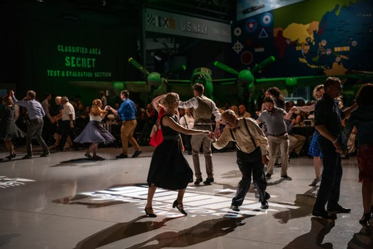 Attendees dance at EAA Aviation Museum's annual September Swing, 2019.