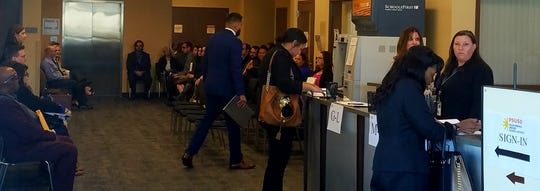 More than 180 people attended Palm Springs Unified School District's last job fair, which was held in February.