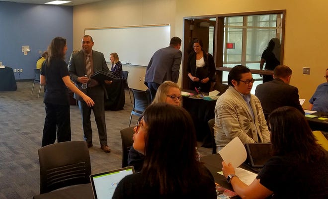 The last job fair, which was held in February, resulted in 45 new teachers being hired by Palm Springs Unified School District.