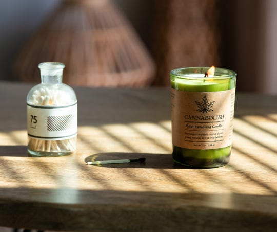 Cannabolish makes candles and sprays to stamp out cannabis odor.