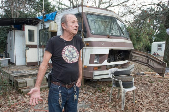 Willard Brigman says he is not sure what he is going to do now that he and his fellow Flamingo Park residents are being forced to vacate the trailer park on Nine Mile Road.