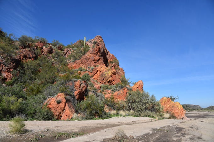 Red Cliff is a dominant feature along the Hassayampa River.