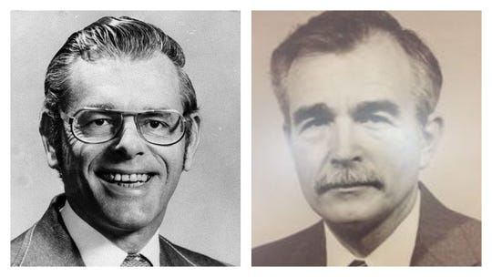 Slain Republic journalists Don Bolles (left) and Charles E. Thornton.