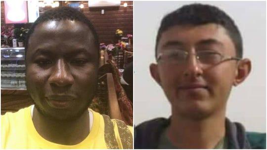 Slain journalists Ahmed Hussein-Suale Divela (left) and Saad Ahmed.