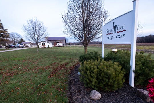 Smiths Creek Alpacas Christmas Shop sells handmade items made with alpaca fleece, such as clothing, pillows, stuffed animals and other items. The store is located at 956 Burns Road, Smiths Creek.