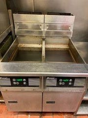 Pitco double fryers with digital face  are among the auction items.